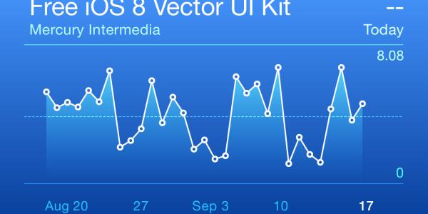 【Illustlator】iOS 8 のデザインを模したベクター素材[Free iOS 8 Vector UI Kit]がイイ感じです。
