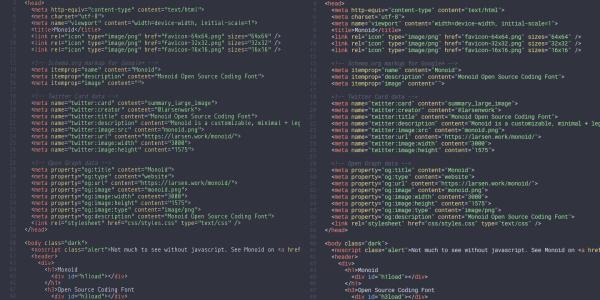 【Font】オープンソースのコーディング用フォント[Monoid]をお勧めします。