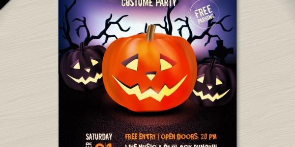 【Design】ハロウィンのポスター用テンプレート[10 Awesome Halloween Posters]テキストを編集するだけで印刷OK!