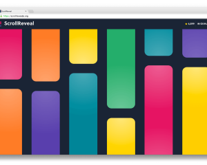 【JavaScript】ページのスクロールに合わせて要素を動かす[ScrollReveal]の使い方