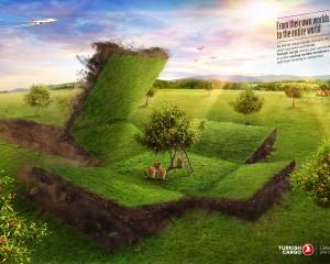 【ADS】ダイナミックなデザインの[Turkish Cargo]の広告