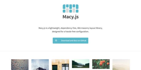 【JavaScript】簡単にMasonry風グリッドレイアウトを実装できる[Macy.js]の使い方