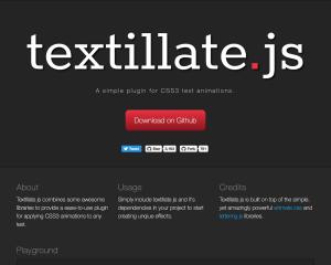 【jQuery】テキストにアニメーションを施す[textillate.js]の使い方