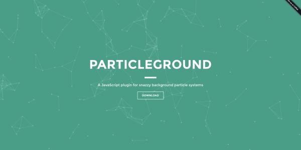 【jQuery】幾何学的でオシャレな背景を描画する[Particleground]の実装方法。