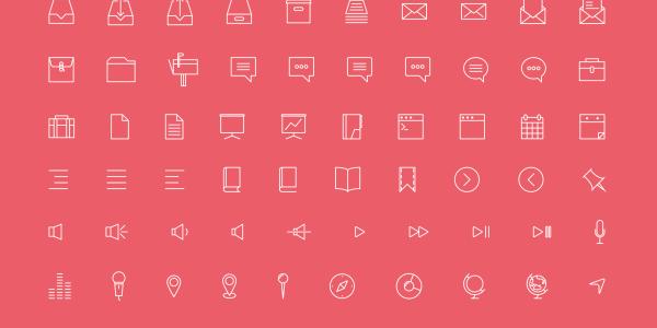【ICON】デザイナーのMirko Monti氏が制作した[Simple line icons]がイイ感じ!