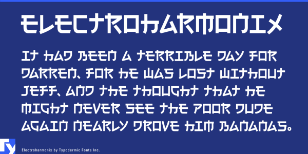 【Font】日本人ならゲシュタルト崩壊必至のフォント[Electroharmonix]が話題になっています。