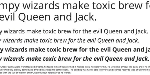 【Font】使い勝手の良いオススメの Google Web Fonts サンセリフ系 × 11選。
