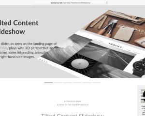 【jQuery】ダイナミックな動作がカッコいいスライドショー[Tilted Content Slideshow]の使い方