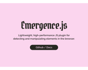 【JavaScript】指定した要素がビューポートに表示されたことを[Emergence.js]で検出する。