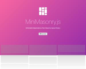 【JavaScript】超便利「Masonry」の簡易版[MiniMasonry.js]の使い方