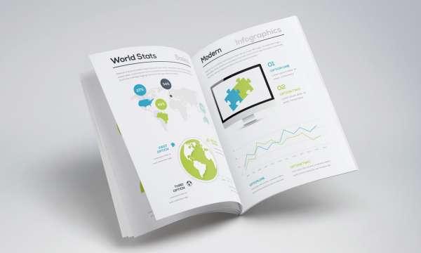 高品質インフォグラフィック・テンプレート[Free Infographic Brochure Template]が無料です。