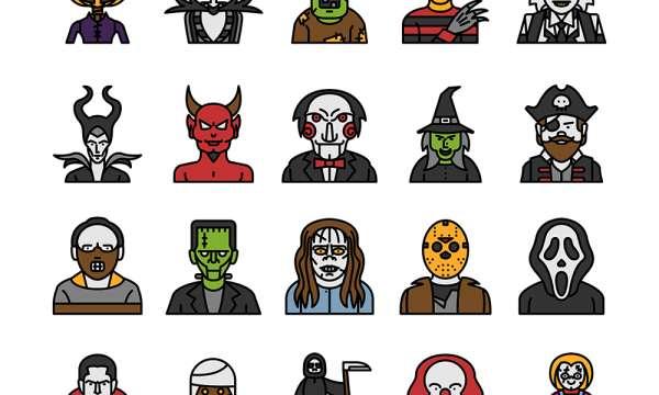 ハロウィンのキャラクターが揃った無料アイコン[Halloween Characters]が可愛い!