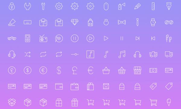 【ICON】デザイナーのMirko Monti氏が制作した[Simple line icons 2]もイイ感じ!