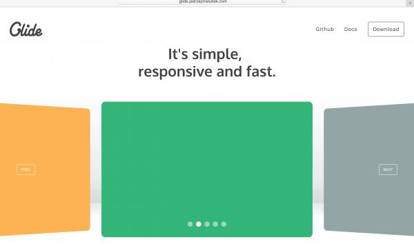 【jQuery】レスポンシブ対応のスライドショーには最新版の[Glide.js]がオススメです。