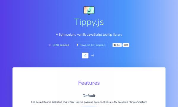 【JavaScript】ツールチップを表示させる超軽量ライブラリ[Tippy.js]の使い方