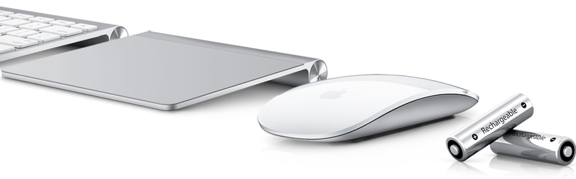 Apple Wireless Keyboard, Magic Trackpad, Magic Mouse, Apple Battery Charger
