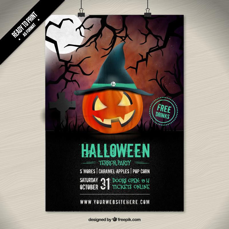 design ハロウィンのポスター用テンプレート 10 awesome halloween