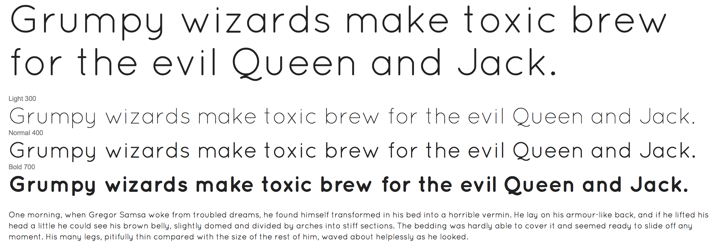 Google Web Fonts - Quicksand