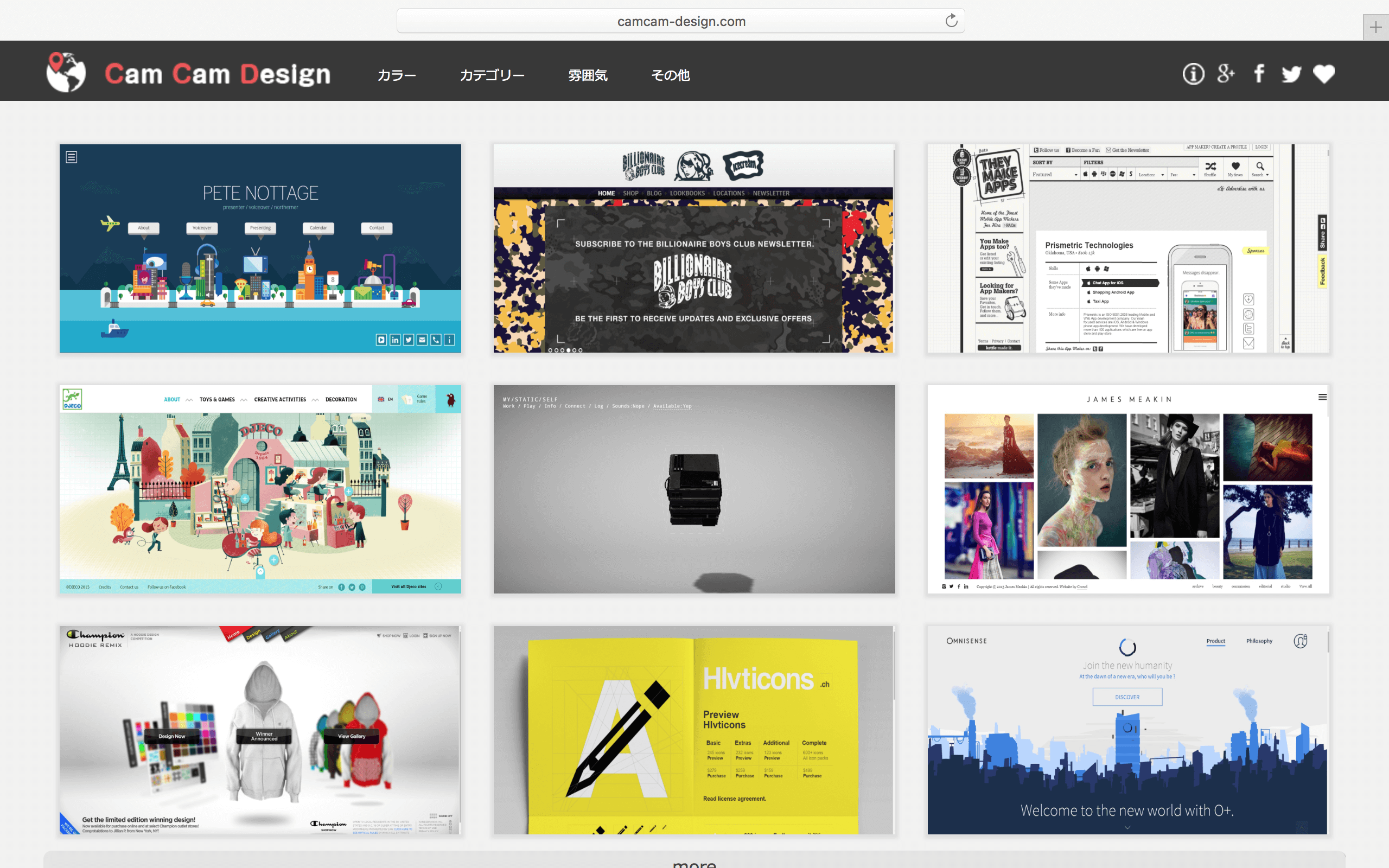 Web Design Gallery : Cam Cam Design