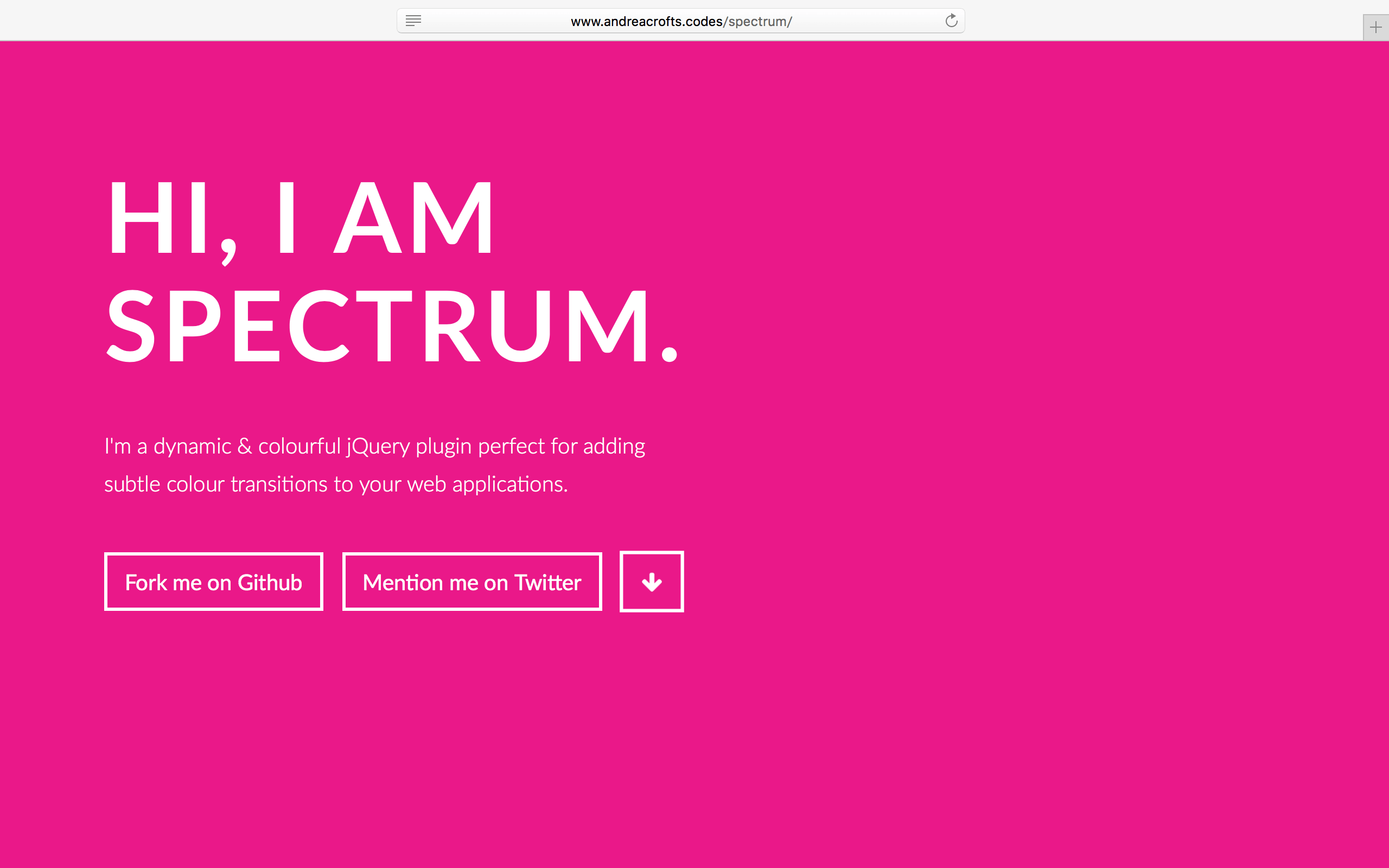 SPECTRUM - jQuery Plugin