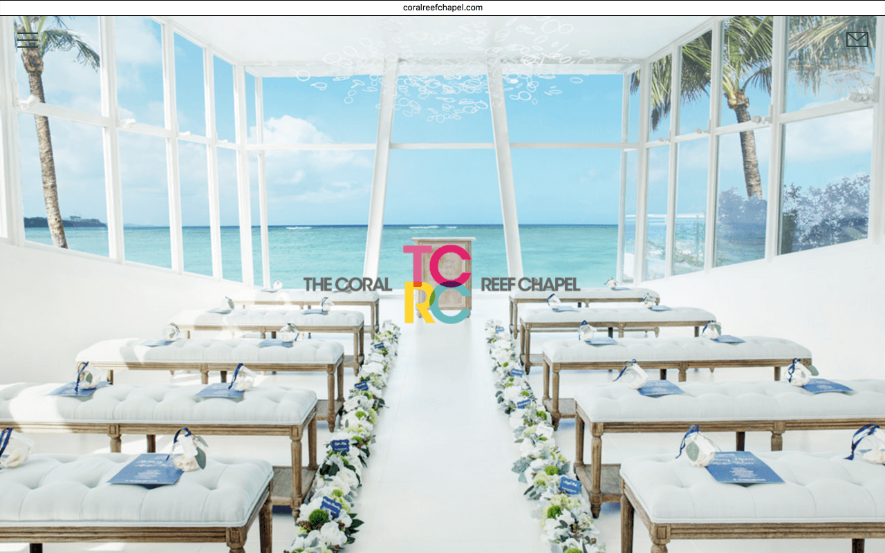 Wedding Web Design : Coral Reef Chapel