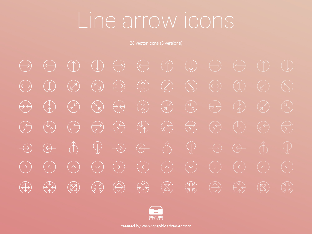 line-arrows-icons